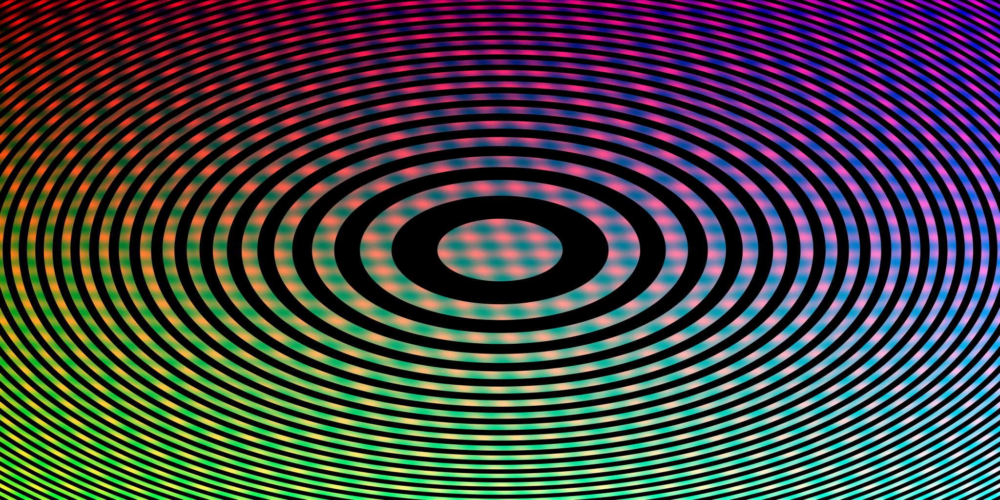 zone plate with blurry colors in the background